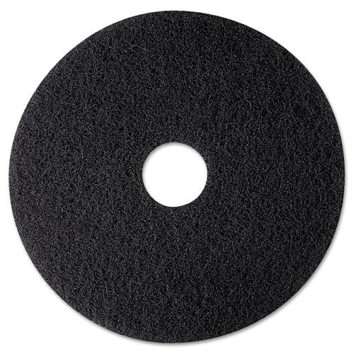 High Productivity Floor Pad 7300, 12 Diameter, Black, 5/Carton