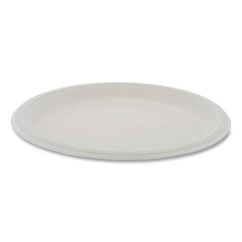 "Pactiv EarthChoice Compostable Fiber-Blend Bagasse Dinnerware, Plate, 10"" dia, Natural, 500/Carton"