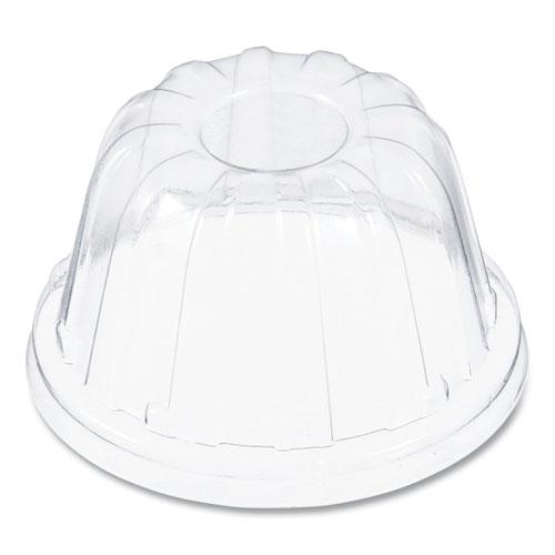D-T Sundae/Cold Cup Lids, Fits Foam Cups, Clear, 1,000 lids/CT, 50/PK, 20PK/CT