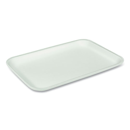 Supermarket Tray, 25S 1-Compartment, Heavy Family Pack Tray, 14.88 x 8 x 1.02, White, 250/Carton