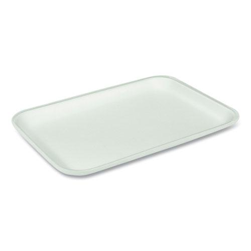 Supermarket Tray, 25S 1-Compartment, Heavy Family Pack Tray, 14.88 x 8 x 1.02, White, 250/Carton