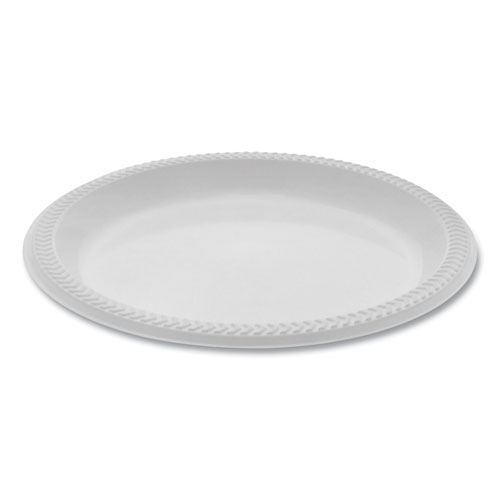 Meadoware OPS Dinnerware, Plate, 8.88 Diameter, White, 400/Carton