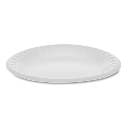 Unlaminated Foam Dinnerware, Plate, 6 Diameter, White, 1,000/Carton