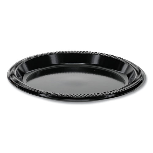 Prairieware OPS Dinnerware, Plate, 8.88 Diameter, Black, 400/Carton
