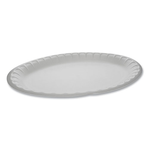 Unlaminated Foam Dinnerware, Platter, Oval, 11.5 x 8.5, White, 500/Carton