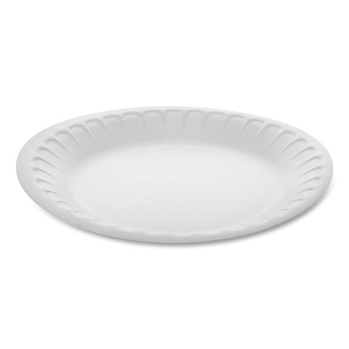 Unlaminated Foam Dinnerware, Plate, 7 Diameter, White, 900/Carton