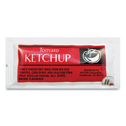 Condiment Packets, Ketchup, 0.25 oz Packet, 200/Carton