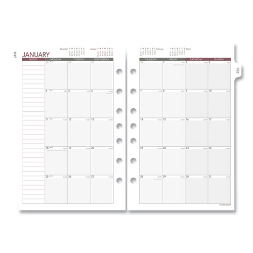 Monthly Planning Pages, 8.5 x 5.5, 2021