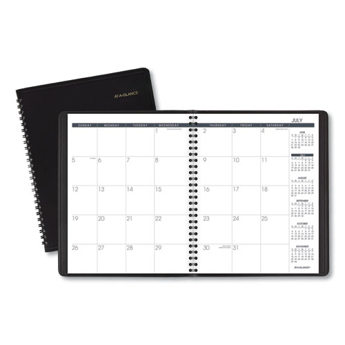 Monthly Planner,8.75 x 7, Black, 2020-2021