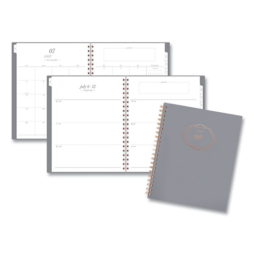 Workstyle Academic Planner, 11 x 8.5, Gray Gem, 2020-2021