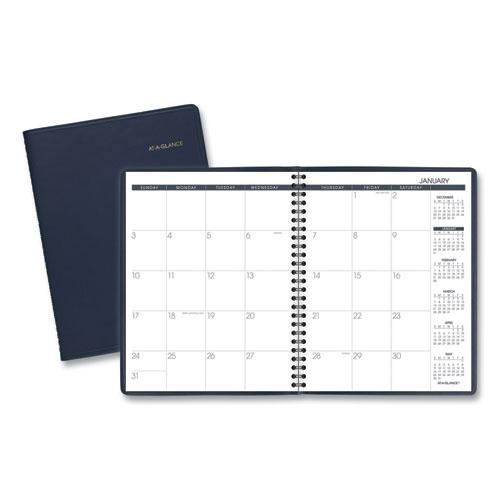 Monthly Planner, 8.75 x 7 Navy, 2021