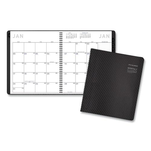 Contemporary Monthly Planner, Premium Paper, 11 x 9, Graphite Cover, 2021