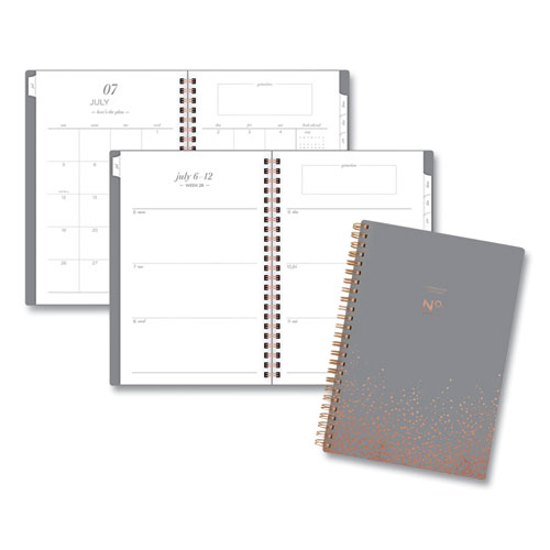 Workstyle Gold Dot Planner, 8.5 x 5.5, Gray, 2020-2021