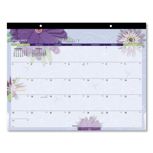 Paper Flowers Desk Pad, 22 x 17, 2021