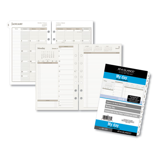 Two-Pages-Per-Day Planning Pages, 8.5 x 5.5, 2021