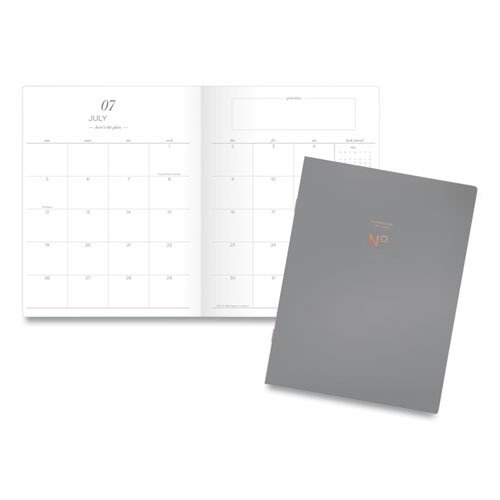 Workstyle Academic Monthly Planner, 11 x 8.5, Gray, 2020-2021