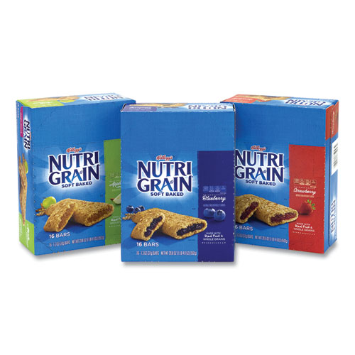 Kellogg's® Nutri-Grain Soft Baked Breakfast Bars, Assorted, 1.3 oz Bar, 48/Carton, Free Delivery in 1-4 Business Days