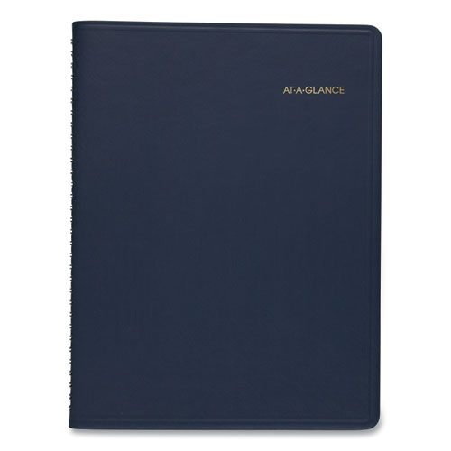 Weekly Appointment Book, 11 x 8.25, Navy, 2021-2022