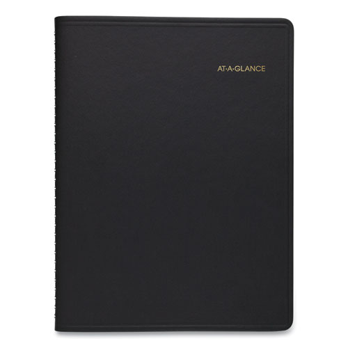 Weekly Appointment Book, Academic, 11 x 8.25, Black, 2020-2021
