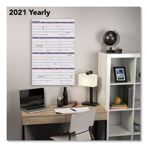 Yearly Wall Calendar, 24 x 36, 2021
