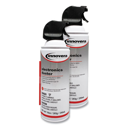 Compressed Air Duster Cleaner, 10 oz Can, 2/Pack