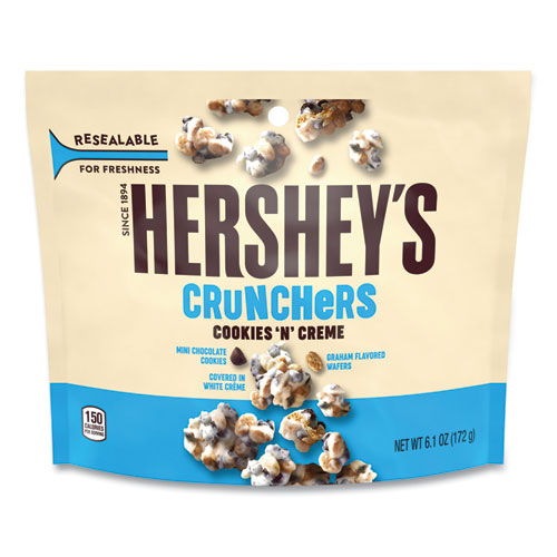 Cookies n Creme Crunchers Snacks, 6.1 oz Bag, 3 Bags/Pack, Free Delivery in 1-4 Business Days