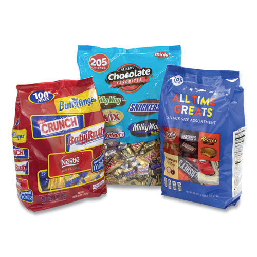 All Time Favorites Minis Mix, Hersheys/Mars/Nestle, 8.84 lbs Total, 3 Bag Bundle, Free Delivery in 1-4 Business Days