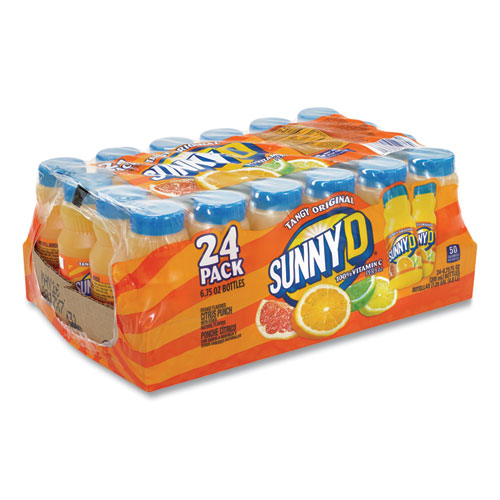 Tangy Original Orange Flavored Citrus Punch, 6.75 oz Bottle, 24/Pack, Free Delivery in 1-4 Business Days