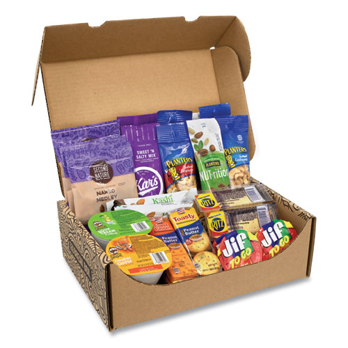 Snack Box Pros On The Go Snack Box, 27 Assorted Snacks, Free Delivery in 1-4 Business Days