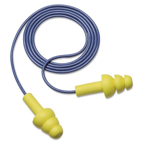 EAR UltraFit Earplugs, Corded, Premolded, Yellow, 100 Pairs | by Plexsupply