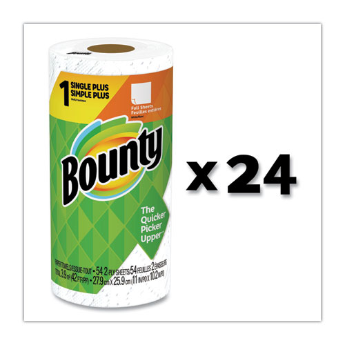 Paper Towels, 2-Ply, White, 54 Sheets/Roll, 24 Rolls/Carton
