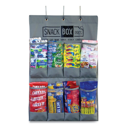 Breakroom Healthy Snacks Over The Door Organizer, 20 Compartments, 12 x 12 x 20, Gray, Free Delivery in 1-4 Business Days