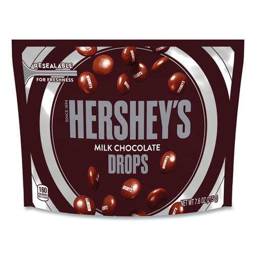 Drops Candy, Milk Chocolate,, 7.6 oz Bag, 3 Bags/Pack, Free Delivery in 1-4 Business Days