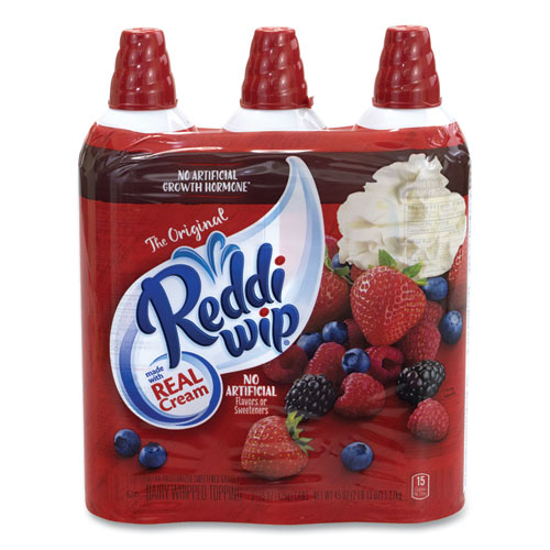 Original Whipped Topping Cans, 15 oz Can, 3 Cans/Pack, Free Delivery in 1-4 Business Days