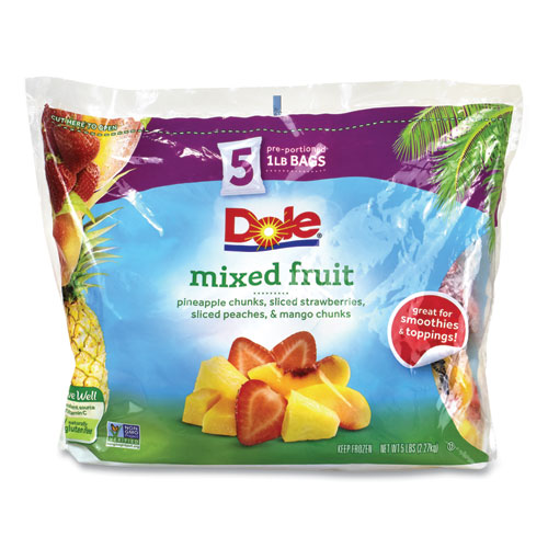 Frozen Mixed Fruit, 1 lb Bag, 5 Bags/Pack, Free Delivery in 1-4 Business Days