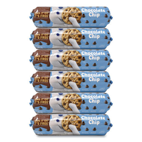 Create N Bake Chocolate Chip Cookies, 16.5 oz Tube, 6 Tubes/Pack, Free Delivery in 1-4 Business Days
