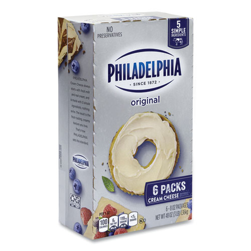 Philadelphia Cream Cheese, Original, 8 oz Brick, 6/Box, Free Delivery in 1-4 Business Days