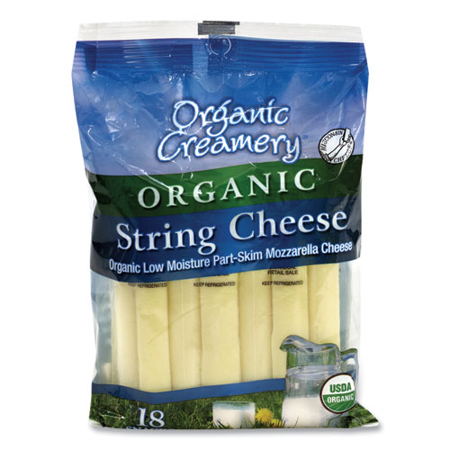 Organic String Cheese, Mozzarella, 1 oz, 18/Pack, Free Delivery in 1-4 Business Days