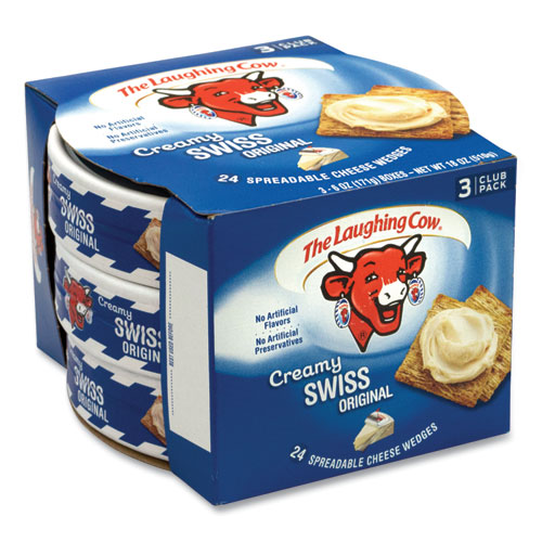 Creamy Swiss Wedge, 6 oz Tub, 3 Tubs/Pack, Free Delivery in 1-4 Business Days