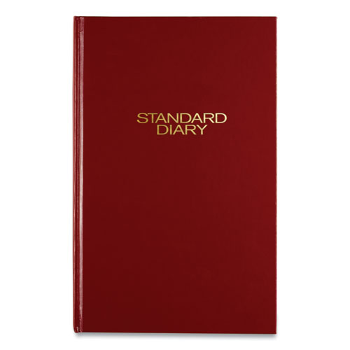 Standard Diary Daily Diary, Recycled, Red, 12.13 x 7.69, 2021
