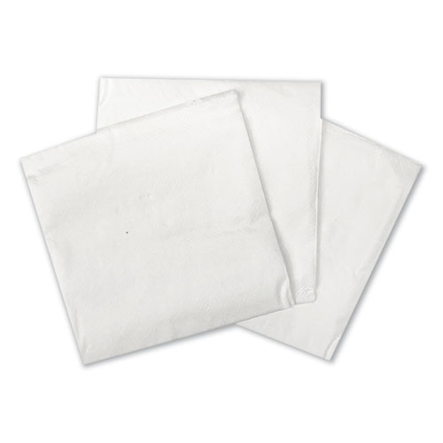 Cocktail Napkins, 1-Ply, 9w x 9d, White, 500/Pack, 8 Packs/Carton