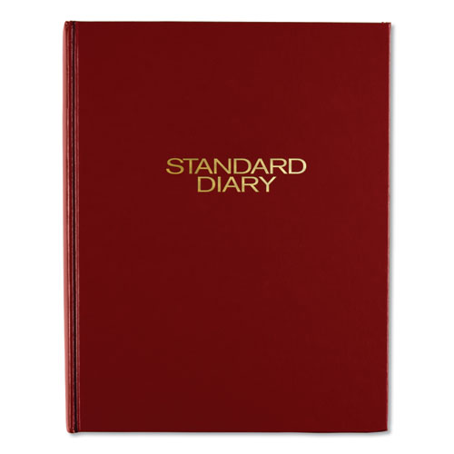 Standard Diary Daily Diary, Recycled, Red, 9 7/16 x 7 1/2, 2020