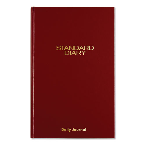 Standard Diary Recycled Daily Journal, Red, 12 1/8 x 7 11/16, 2020