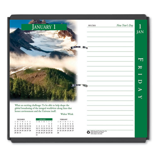 Earthscapes Desk Calendar Refill, 3.5 x 6, 2021