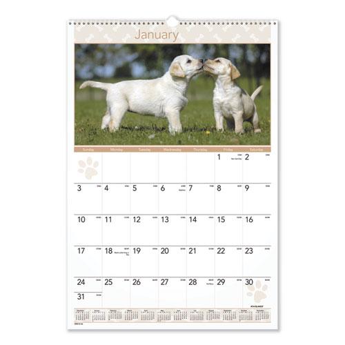 Puppies Monthly Wall Calendar, 15.5 x 22.75, 2021