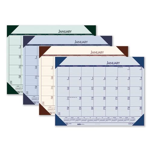 House of Doolittle™ Recycled EcoTones Ocean Blue Monthly Desk Pad Calendar, 22 x 17, 2022