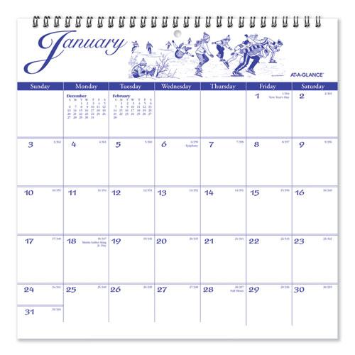 12-Month Illustrators Edition Wall Calendar, 12 x 12, Illustrations, 2021