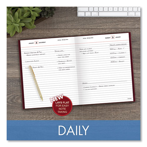 Standard Diary Daily Diary, Recycled, Red, 9.44 x 7.5, 2021