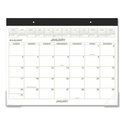 Two-Color Desk Pad, 22 x 17, 2021