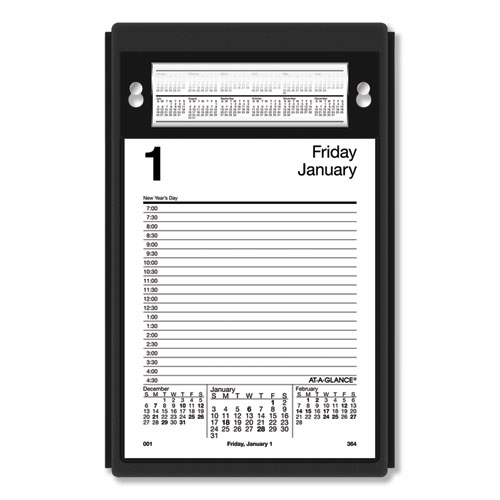 Pad Style Desk Calendar Refill, 5 x 8, 2021